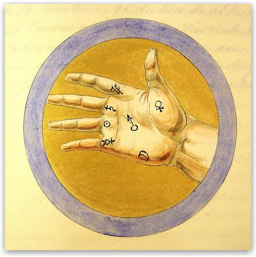 Astrologická znamení na ruce