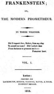 Frankenstein, 1818