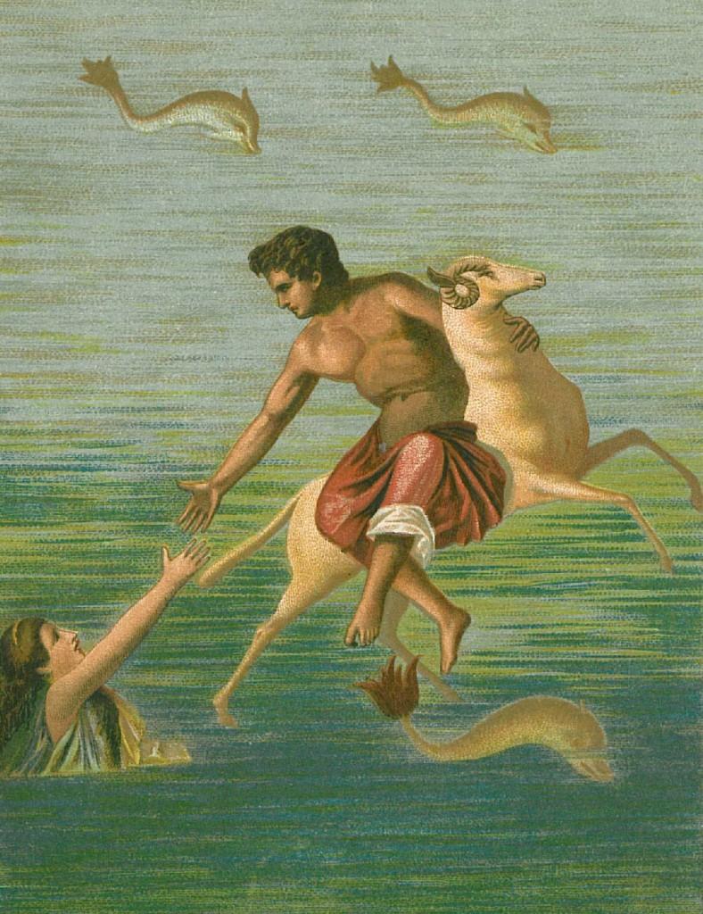 Frixos a Hellé (nástěnná malba z Pompejí)