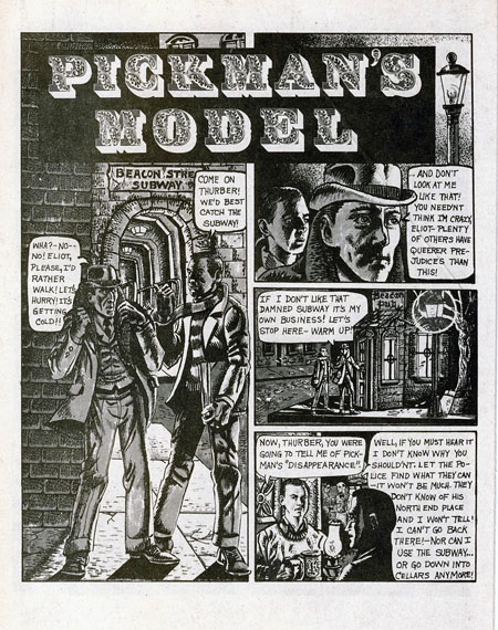 H.P. Lovecraft 'Pickman's Model', 1927.