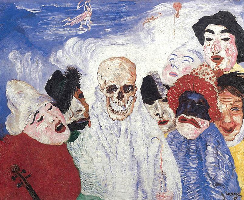 James Ensor: Smrt a masky (1897)