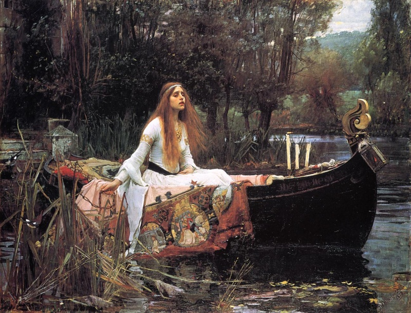 John William Waterhouse: Paní ze Shalottu