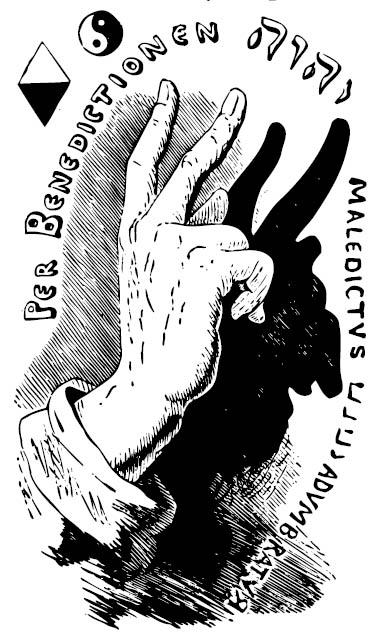 E. Lévi: Per Benedictionen IHVH Maledictvs HVHI Advmbratvr