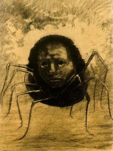 Odilon Redon: Plakající pavouk