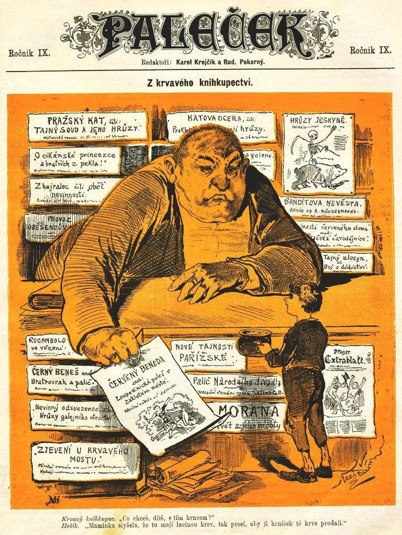 Paleček - údajná karikatura Karla Trachty