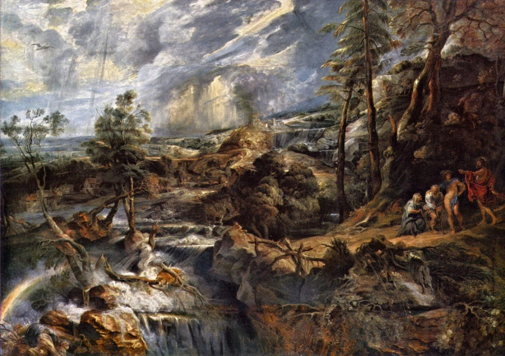 Peter Paul Rubens: Krajina s Diem, Hermem, Filémónem a Baucidou