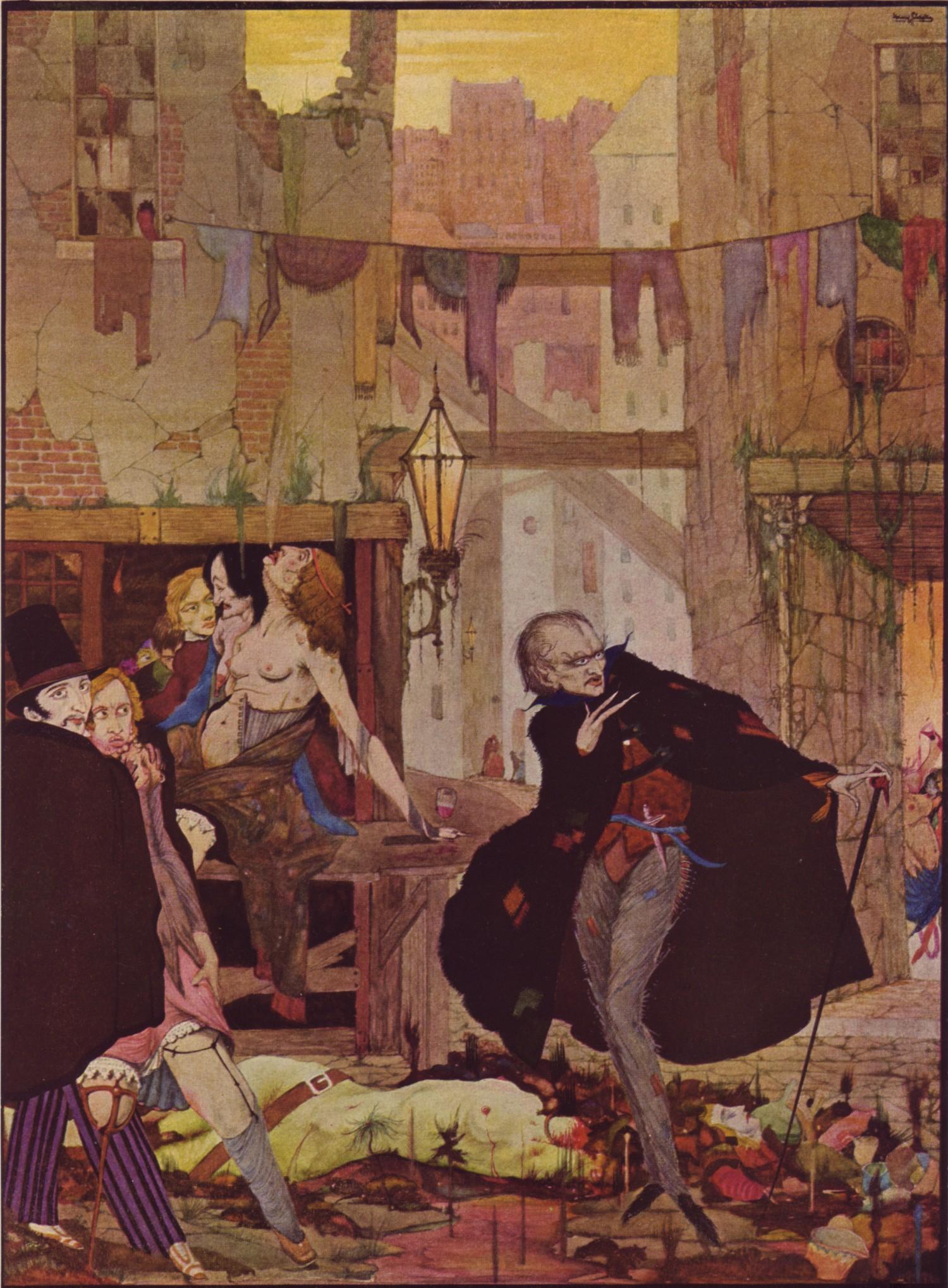 E. A. Poe: Muž davu (il. Harry Clark)