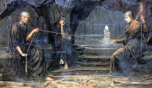 John Strudwick: Sudičky (1885)